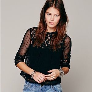 Free People lace cropped top